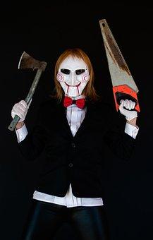 Saw, Halloween, Cosplay, Mask, Axe, Rust, Horror Movie