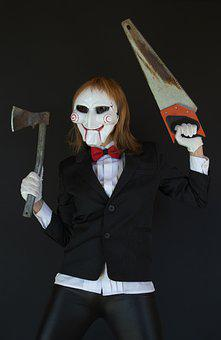 Saw, Halloween, Cosplay, Mask, Axe, Horror Movie