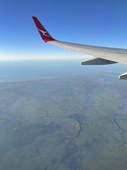 Air, Plane, Wing, Flight, Ocean, Airplane, Aircraft