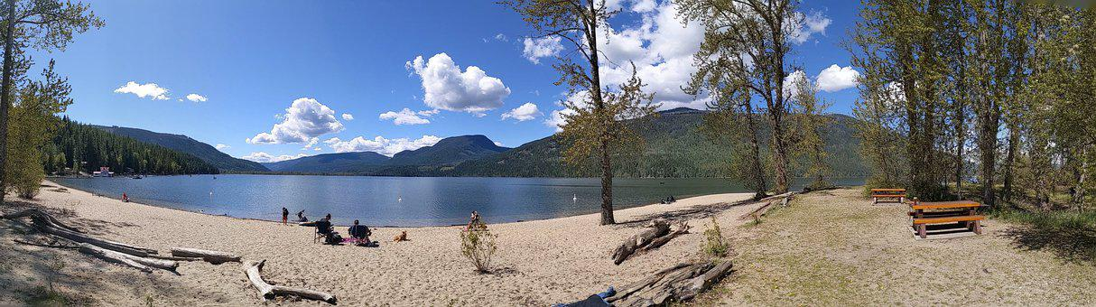 Beach, Forest, Landscape, Nature, Sky, Water, Mountain