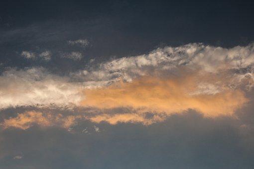 Clouds, Sunset, Sky, Landscape, Twilight