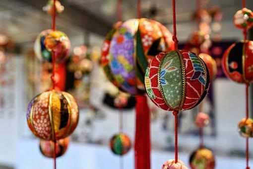 Craft, Hanging Decoration, Ornament, Temari, Ball
