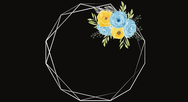 Flowers, Frame, Border, Wreath, Design, Floral Design