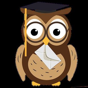 Owl, Mail, Education, Academic, Wisdom, Glasses