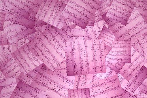 Music, Sheet Of Music, Musical Note, Scrapbook