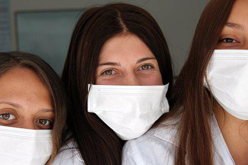 Women, Friends, Masks, Covid, Protection, Pandemic