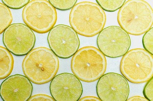 Lemon, Lime, Background, Food, Citrus, Fruits, Slices