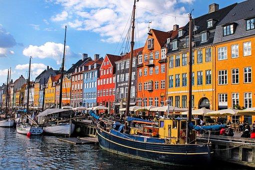 Copenhagen, Buildings, Canal, Boats, Nyhavn, Porto