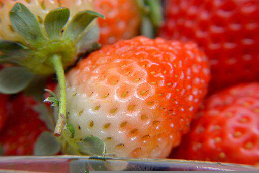 Strawberries, Fruit, Dessert