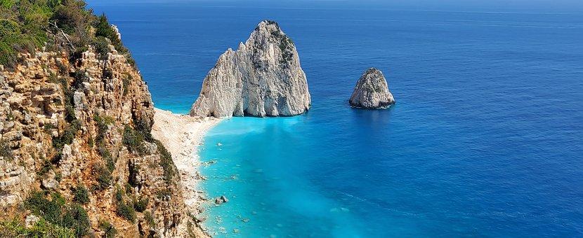 Zakynthos, Cliff, Sea, Greece, Zante, Coast, Coastline