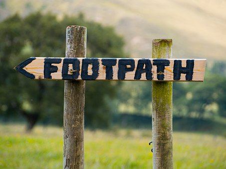 Footpath, Arrow, Sign, Wood, Signpost, Trail