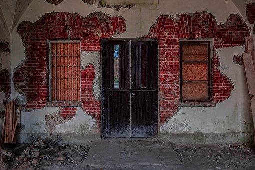 Fortress, Abandoned, Door, Exterior, Dilapidated