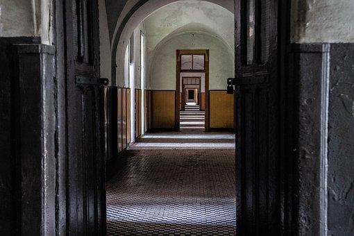 Fortress, Hall, Abandoned, Corridor, Building, Interior