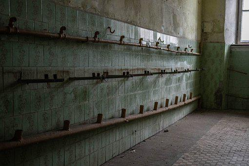 Fortress, Interior, Abandoned, Building, Wall, Military