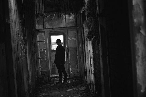 Silhouette, Scary, Disused, Abandoned, Horror, Creepy