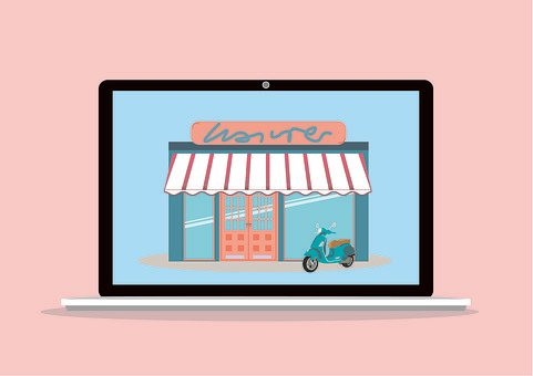 E Commerce, Shop, Laptop, Trade, Business, Computer