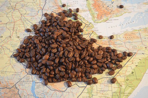 Coffee, Map, Ethiopia, Beans, Africa, Sidamo, Brown Map