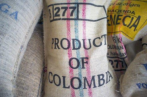 Coffee, Beans, Sack, Burlap, Colombia, Bag, Coffee Bean