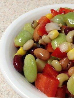Bean Salad, Beans, Pinto Beans, Black-eyed Peas