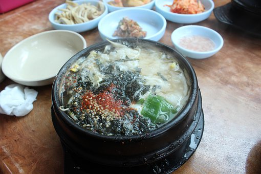 Food, Bean Sprouts Soup With Rice, Songdo