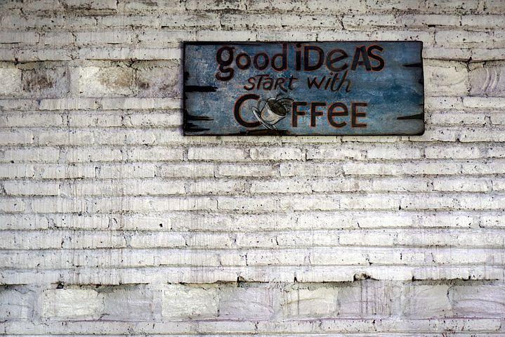 Coffee, Coffee Wall, Brick Wall, Wall