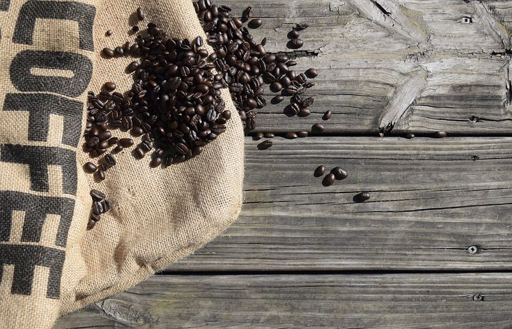 Coffee, Beans, Espresso, Roasted, Caffeine, Burlap