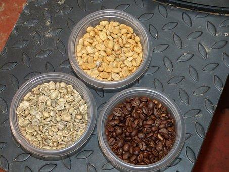 Coffee, Coffee Beans, Roast, Roasted, Ungeröstet