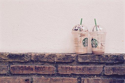 Starbucks, Coffee, Drinks, Bricks, Wall