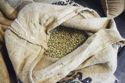 Coffee, Beans, Espresso, Raw, Uncooked, Burlap, Bag