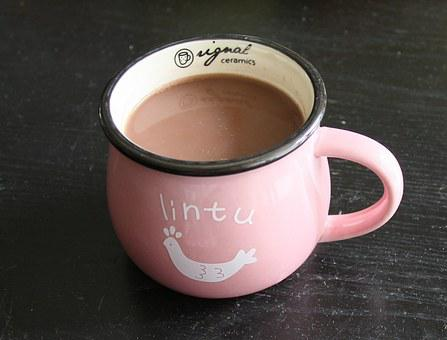 Coffee, Cocoa, Hot Chocolate, Mug, Cup, Pink