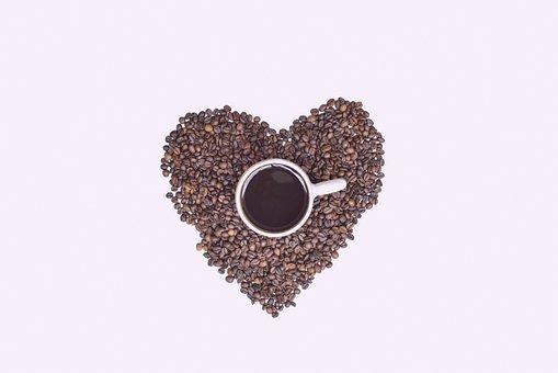Heart, Coffee, Cup, Beans, Love, Mug, Symbol
