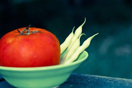 Garden Veggies, Beans, Tomatoes, Color, Food