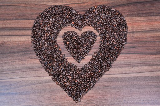 Coffee, Heart, Coffee Beans, Love Coffee, Hot Love