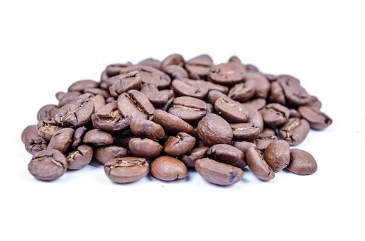 Beans, White, Espresso, Cappuccino, Close-up, Isolated