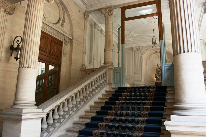 Ladder, Staircase, Handrail, Vestibule, Columns
