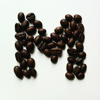 Coffee, Beans, Coffee Bean, Letter M, M