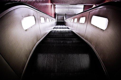 Escalator, Metro, Climbing Aid, Movement, Technology