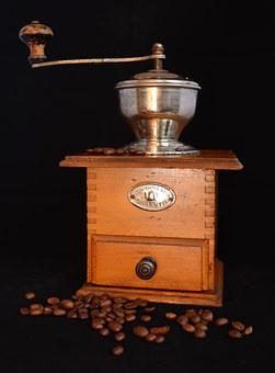Grinder, Old, Coffee, Grind, Mill, Crank, Coffee Beans
