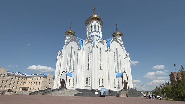 Kazakhstan, Almaty, Russian, Orthodox, Church, Kazakh