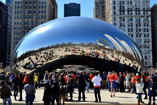 Chicago Bean, Bean, Arts, Metallic, Reflexion