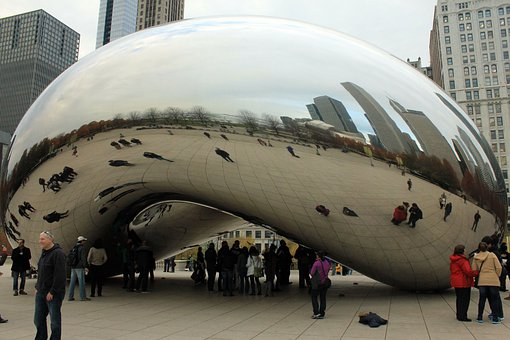 Bean, Chicago, Usa, Illinois, Art, Reflexion
