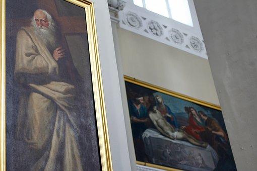 Painting, Church, Faith, Religion, Artwork, Mural