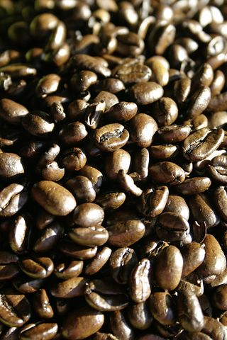 Coffee, Coffee Beans, Roasted, Brown, Aroma, Cafe