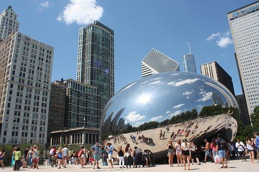 Chicago, Bean, Cloud, Summer, Sky, Vacation, Millenium