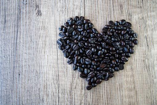 Heart, Love, Romance, Valentine's Day, Wood, Coffee