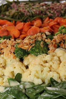 Vegetable Plate, Vegetables, Beans, Cauliflower