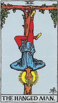 Tarot, Major Arcana, The Hanged Man, 12, Hanged, Card