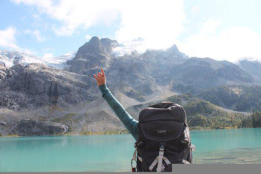 Backpacking, Joffre Lakes, Lake, Mountains, Snow