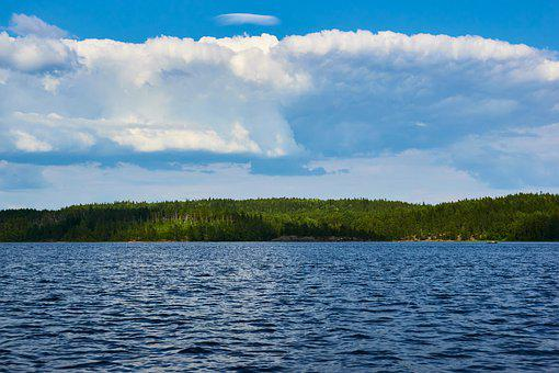 Lake, Water, Lake Ladoga, Ladoga, Landscape, Sky