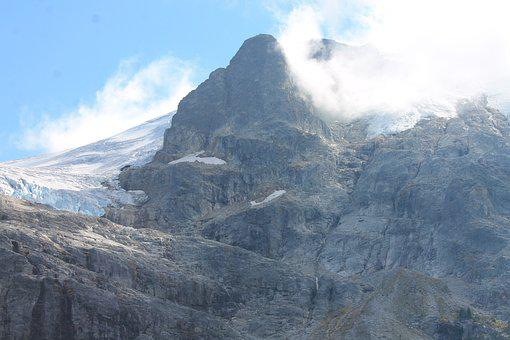 Mountain, Peak, Snow, Clouds, Fog, Summit, Rock